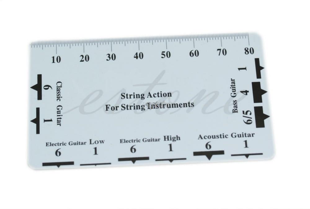Guitar Bass String Pitch Ruler Gauge String Action Measuring Guitar Luthier Tool Z11 Drop Ship