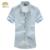 MIUK 2016 Turn-down Collar Big Size 6XL 5XL 4XL Poliéster Masculino primavera Verão Outono Sólidos Homens Camisa Azul Preto Branco Rosa Azul