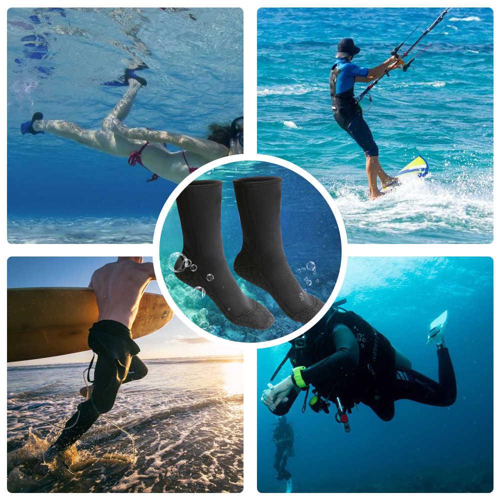 Dalış çorapları Plaj Çorap Çizmeler 3mm Neopren su ayakkabısı Plaj Patik Isınma Dalış Dalış Sörf Botları Erkekler Kadınlar için