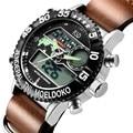 Genuine Leather Quartz Watch Men Wristwatches Relogio Masculino 2016 KSD Top Brand Dive LED Watches Men Sports Military Watch