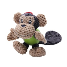 Домашние животные Игрушки для собак Щенок, Игрушечные лошадки мультфильм Животные в форме носорога обезьяна бегемота укус Игрушечные лошадки