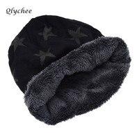 Qlychee Winter Autumn Star Print Warm Knitted Women Hat Unisex Skullies Beanies Hat Casual Caps
