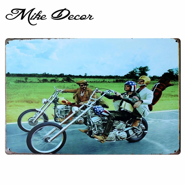 mike86 easy rider motor metal signs gift pub wall art painting
