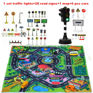 2018 Rushed Promotion Carro Children's Toys Scene Car Parking Lights Set Of Traffic Signs Signpost For Kids Gift Educational Toy