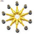 10 pcs Universal Motocicleta CNC Windshield Windscreen Kit Parafuso Parafuso Porca Porcas de Montagem para Ducati MONSTER M400 M600 M750 ST2 ST4