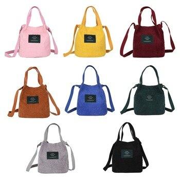 c1eaf29dc THINKTHENDO Vintage bolsos bolsas de hombro de las mujeres de pana nueva  bolsa de cubo hombro bolsas de diseñador de alta calidad 2019