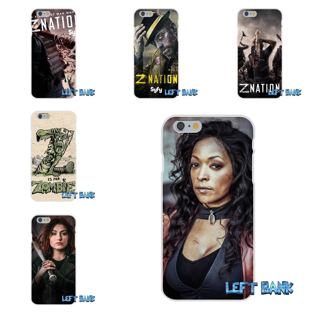 For iPhone 4 4S 5 5S 5C SE 6 6S 7 Plus Z Nation Soft Silicone TPU Transparent Cover Case