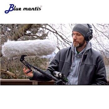 الأزرق السرعوف المنطاد الزجاج الأمامي وتعليق ل البنادق الميكروفونات قفص مقبض امتصاص الصدمات الرياح سترة ميكروفون كابل