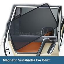 4 Pcs Magnetic Car Side Window Sunshade Laser Shade Sun Block UV Visor Solar Protection Mesh Cover For Benz V260 2016-2018 iek ldbo0 5005 18 6500 k02 светильник led дбо 5005 18вт 6500к ip20 600мм металл аналог люм свет 2х18 600х70х27 мм металл корпус