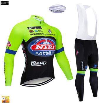 Fluo-Conjunto de pantalones de Ciclismo para hombre, Jersey de equipo profesional, con...