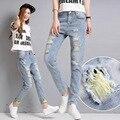 Boyfriend Jeans Femme 2016 New Fashion Summer Style Women Jeans Loose Holes Denim Harem Pants Ripped Jeans Plus Size C518