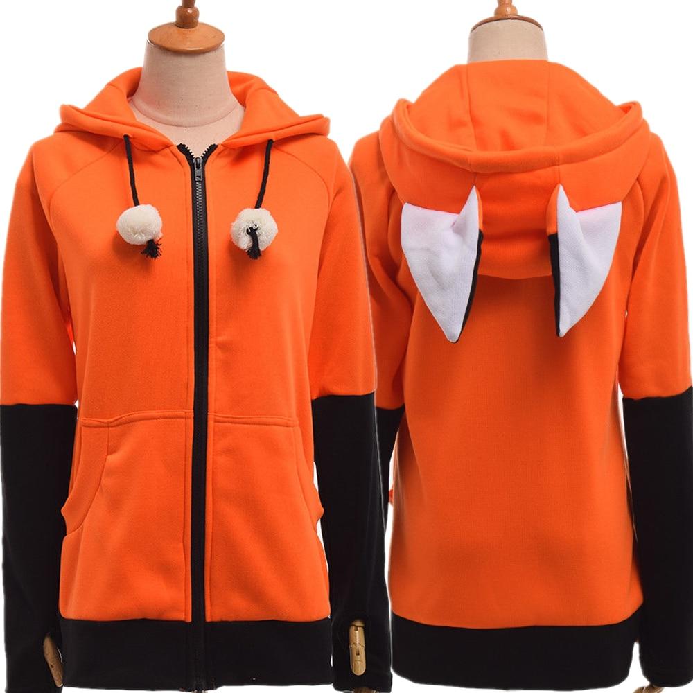 Fox Ears Sweatshirt Jacket   1