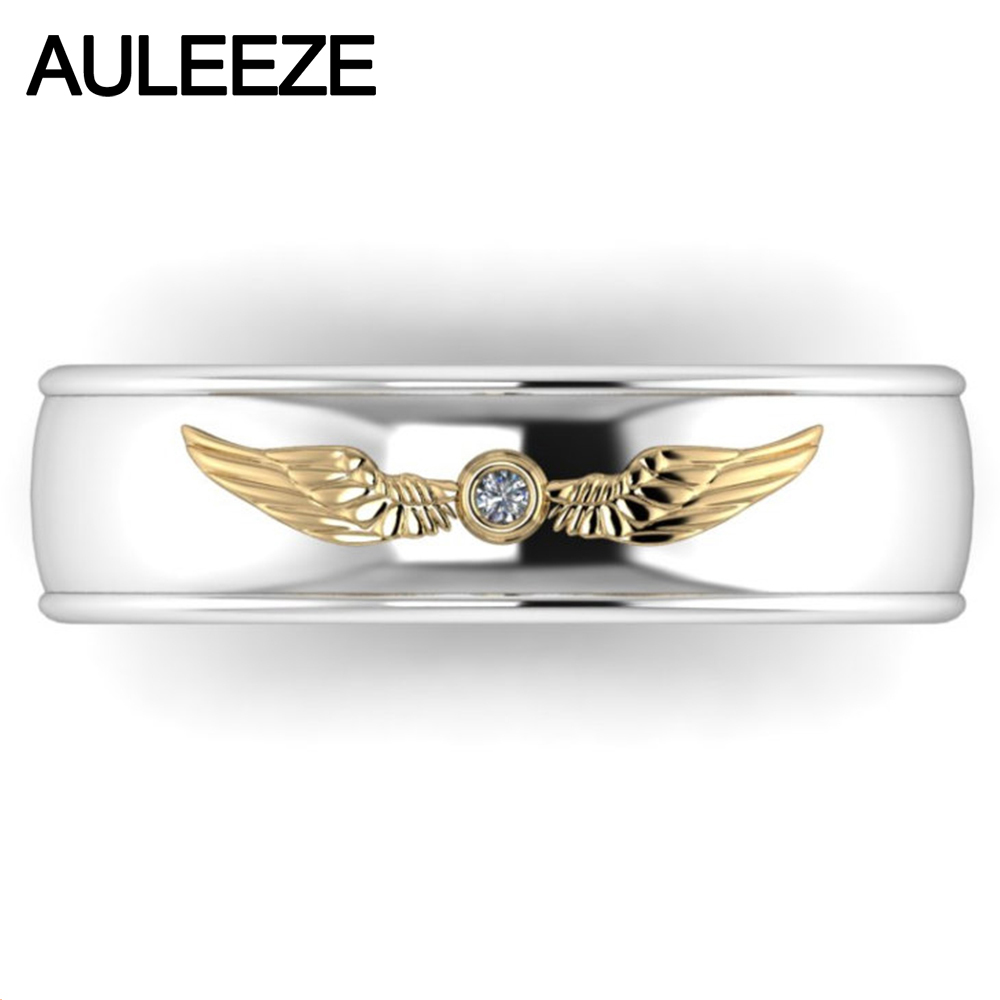 cosplay zelda real diamond jewelry 10k two tone yellow white gold rings for men wedding