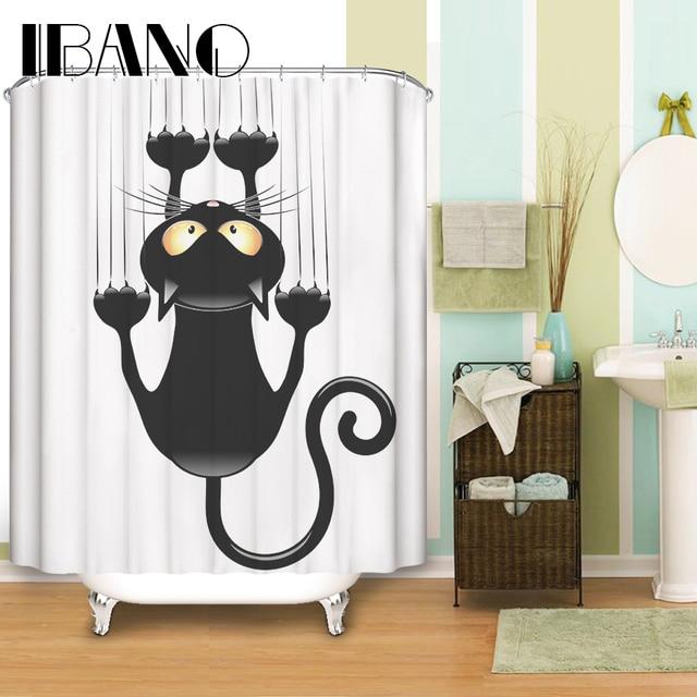 Cats Shower Curtain Pattern Customized Shower Curtain Waterproof ...