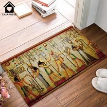 CHARMHOME, напольный коврик, ковер, древнеегипетская жизнь, с рисунком, для гостиной, дверной коврик, для ванной, коврик для прихожей, кухни, нескользящий, для спальни