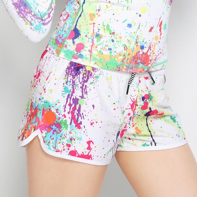 colorido impresso shorts rendas mergulho surf shorts