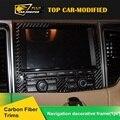 Free Shipping 1PC/SET Interior Auto Trim Carbon Fiber  Car Navigation System Cover for porsche macan