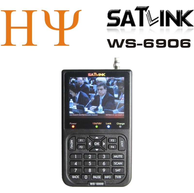 [Genuine] Satlink WS-6906 3.5 DVB-S FTA digital satellite meter satellite finder ws 6906 satlink ws6906 free shipping 1pc original satlink ws 6933 ws6933 dvb s2 fta c ku band digital satellite finder meter free shipping