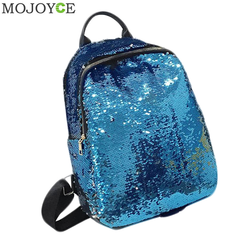 Glitter Backpack Women Summer Sequin Backpacks Teenage Girls Bling Small Back Pack Fashion School Bag Mochilas Drop Ship