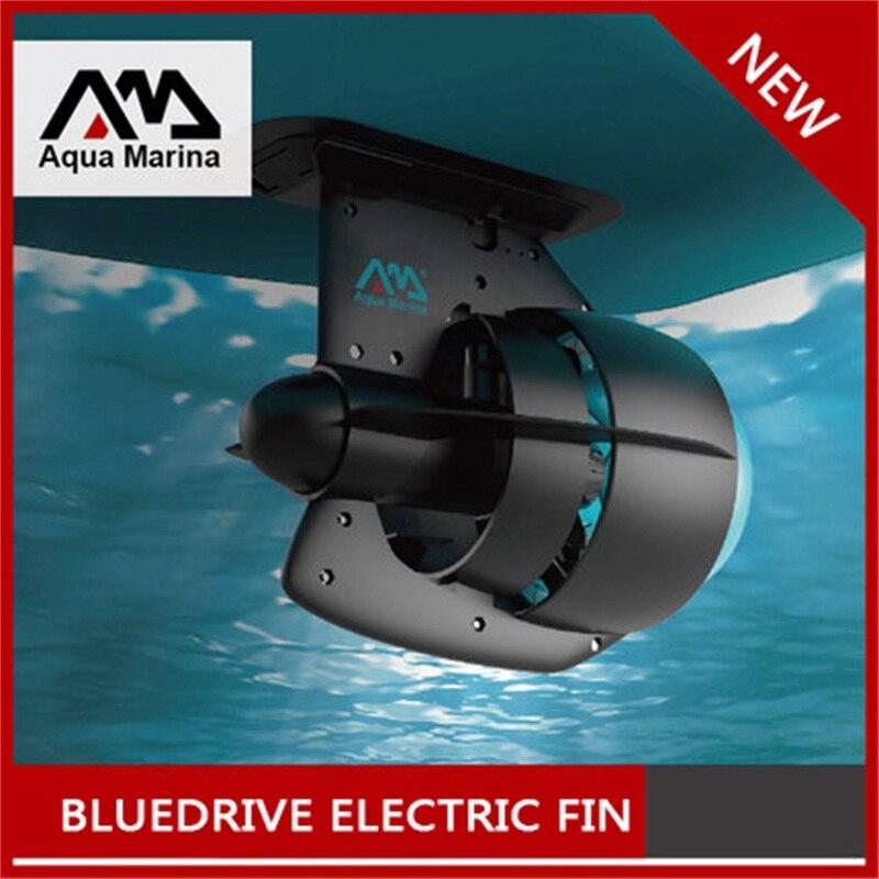 BLEU PUISSANCE D'ENTRAÎNEMENT FIN AQUA MARINA 12 v Batterie Électrique Fin Stand Up Paddle Board SUP Planche de Surf Kayak planche de Surf rechargeable