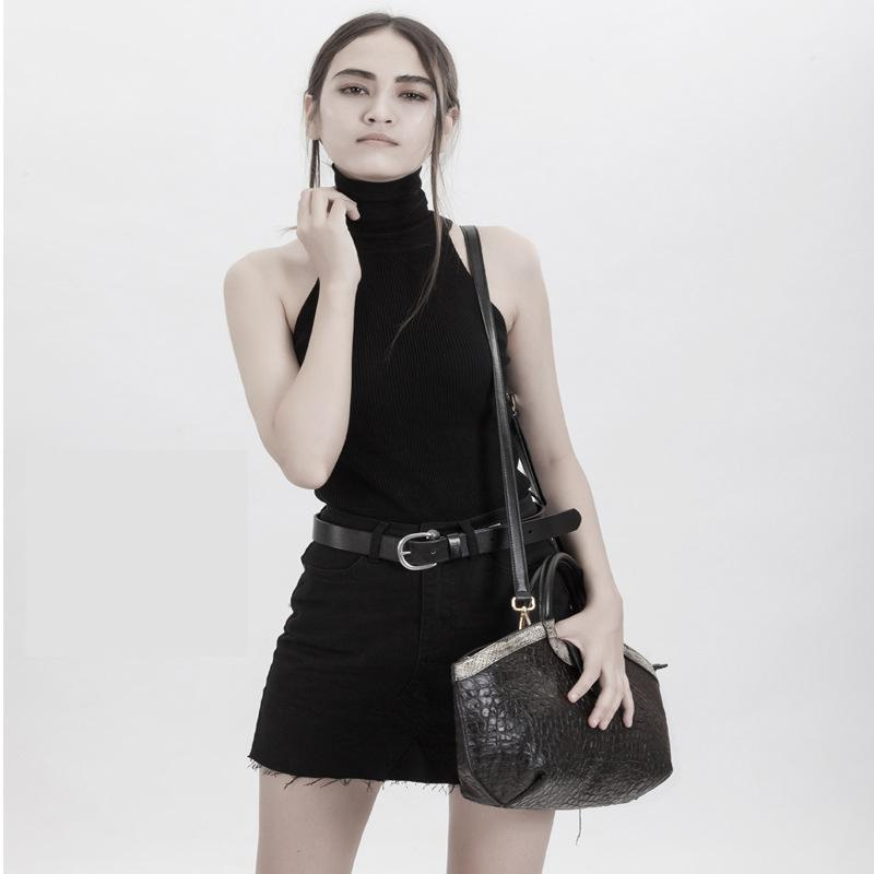 2019 New Top Cowhide Female Bag European And American Fashion  Large Capacity Genuine Leatherdumpling Bag With Crocodile Pattern2019 New Top Cowhide Female Bag European And American Fashion  Large Capacity Genuine Leatherdumpling Bag With Crocodile Pattern