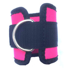 1 Pair D-Ring Ankle Strap Adjustable Anchor Strap Belt Wrap Belt Strap Ankle Guard Lifting Fitness Exercise Training Equipment(China)
