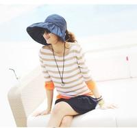 2016 Hot Sale Fashion Women Summer Hats Foldable Sun Hats For Women Beach Caps Large Brim