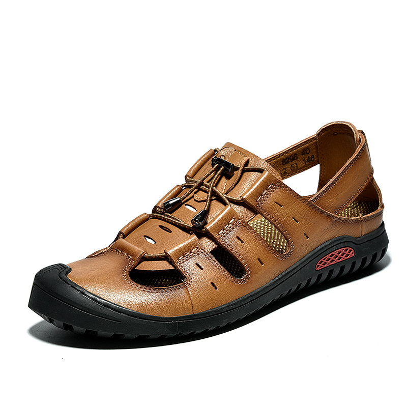 Classic Men Soft Sandals Comfortable Summer Shoes Leather