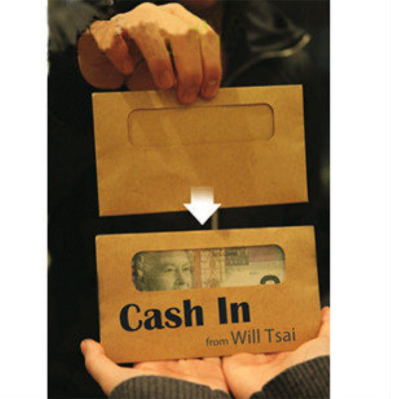 Cash In Street Magic Tricks Props Close Up Free Shipping Easy Doing Making Money Envelop