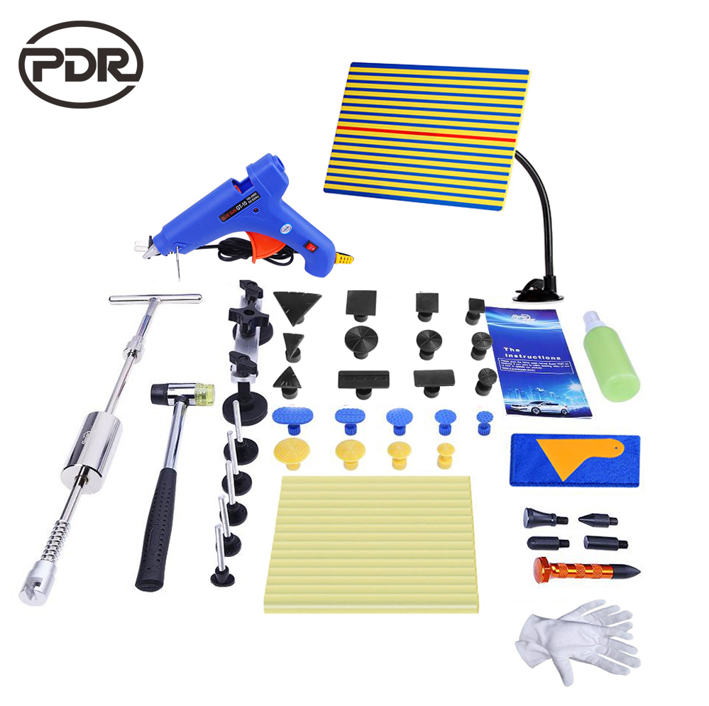 PDR Tools For Car dent Repair tool Kit Slide hammer dent lifter yellow line Reflector Removal Dent Lifter hand Tool Set pdr dent lifter removal hand tools slide hammer sl 005