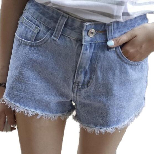 Slim Jeans Shorts Women Summer Denim High Wasit Casual Plus Size Womens Shorts ZMF789554