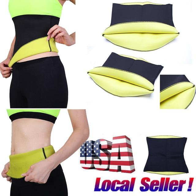 d9239aad0f83f Women Hot Sweet Neoprene Body Shaper Slimming Waist Trainer Cincher Corset  Slim Belt Workout Control Tummy Girdle Shapwear