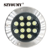 SZYOUMY 2 Pcs 12W LED Underground Lamps LED Outdoor Lighting DC 12V AC 85V~265V IP67 Garden Path Floor Buried Yard Spot Lamp