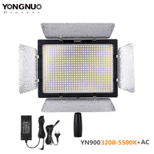 Video-Light-Panel Yongnuo Yn900 Power-Adapter Remote-Control LED Bi-Color 3200-5500K