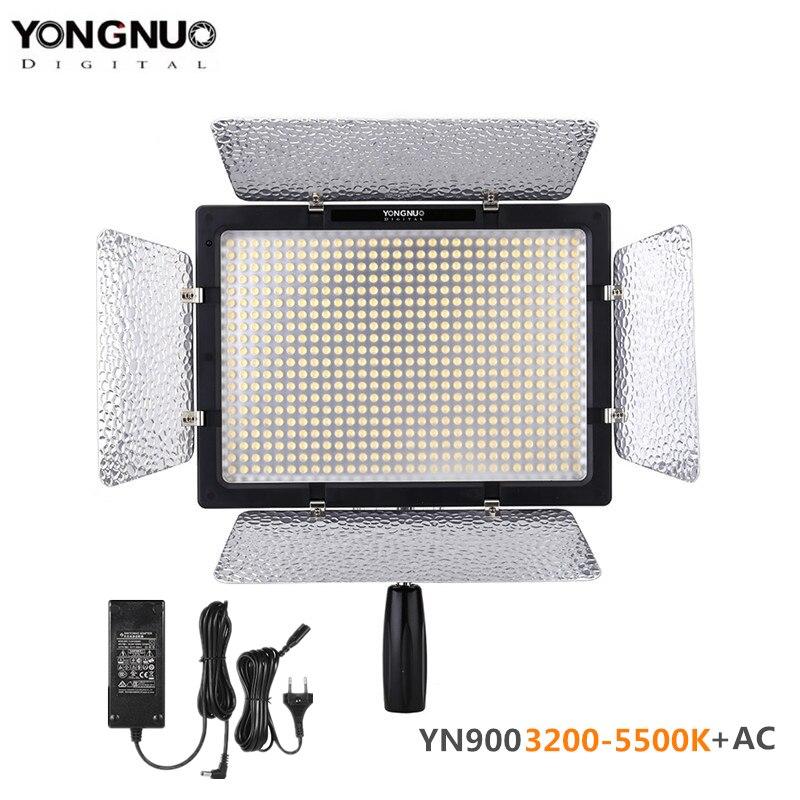Yongnuo YN900 3200-5500 K bi-color APP télécommande CRI95 + 54 W 7200LM 900 LED panneau lumineux vidéo + adaptateur secteur