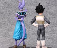 2pcs/set 15-17cm Dragon Ball Z Vegeta and Beerus PVC Figures Collectible Model Toys