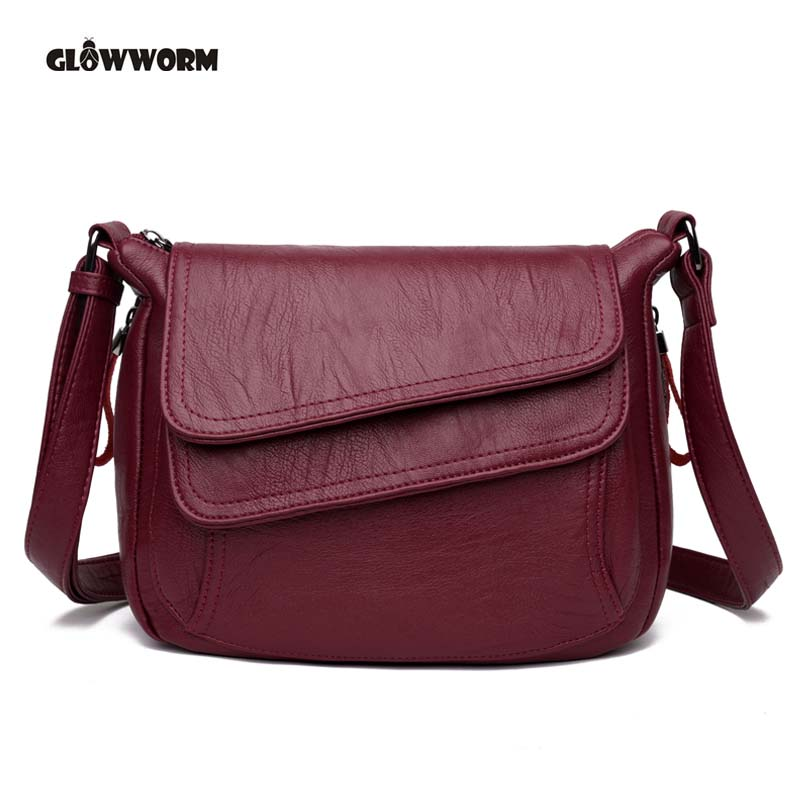 GLOWWORM Brand 2017 High Quality Women Messenger Bags Shoulder Luxury Handbags Women Bags Designer Leather Crossbody Bags Ladies