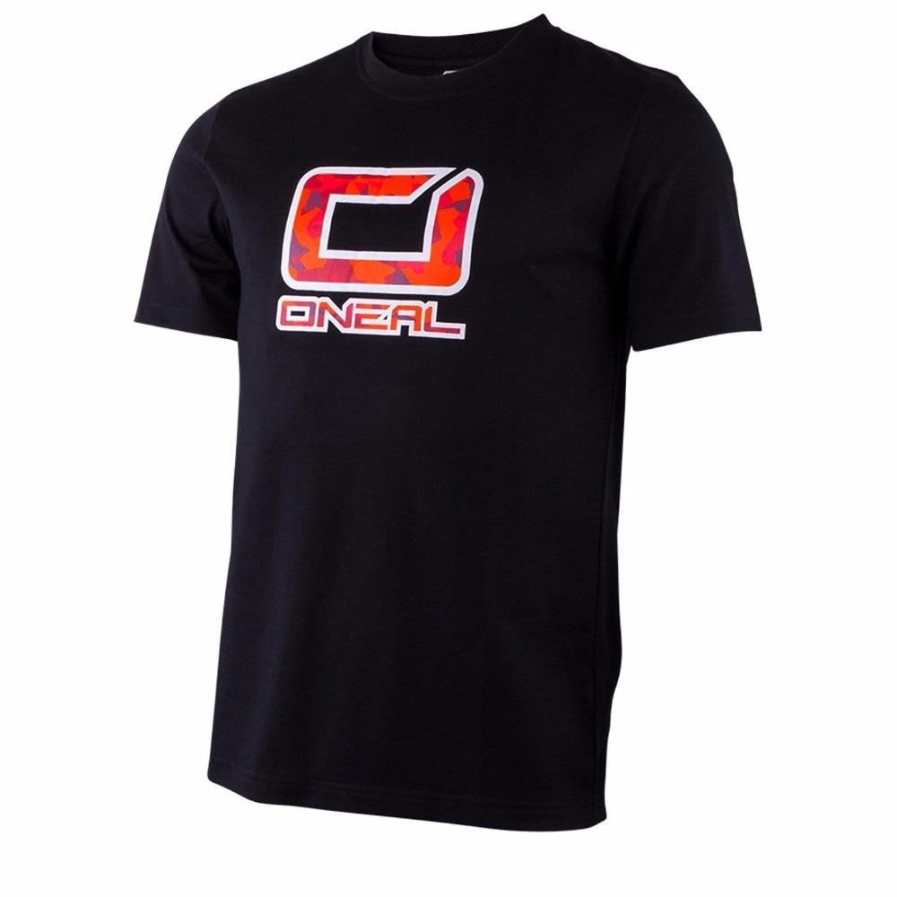 ONeal Slickrock Jersey Schwarz Rot kurzarm T-Shirt MTB DH MX Mountain Bike jersey T-shirt