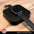 Estación de carga para Apple, Reloj de Escritorio Horquilla Del Soporte con Cargador Inalámbrico Incorporado Ranuras de Inserción para ambos Ojal Cable