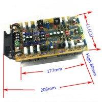 DC+ 25 90V 600W + 600W 5200/1943 power tube HIFI 2.0 channel stereo audio power amplifier board