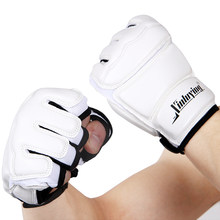Boxing Half Fingers Adults Boxing Gloves/Kids Sandbag Training / Gloves Sanda/Karate/Muay Thai/ Fitness/ Taekwondo Protector(China)