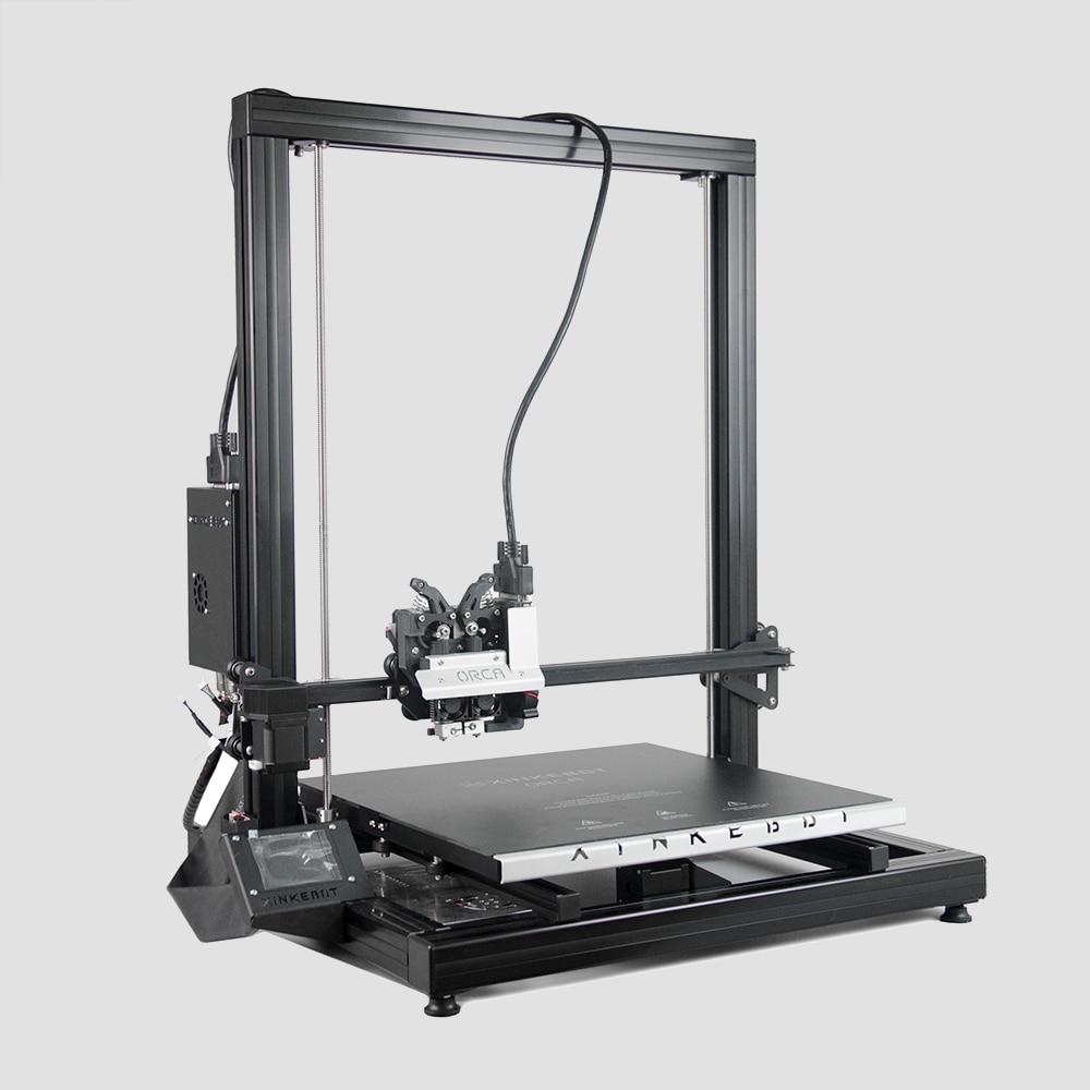 Xinkebot Orca 2 Cygnus Big Size 3D Printer 400x400x500mm Build Size Single and Dual Heads 0.05mm Resolution Free Shipping xinkebot 3d printer orca2 cygnus dual extruder high resolution big impressora 3d with free filament