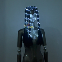 LED Headwear Lady 2017 New Fashion Glowing Hair Hairpin Women Luminous Headdress Light Clothing Dance Dress