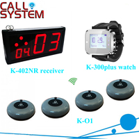 1 дисплей K-402NR с 10 звонок зуммер 2 часы Ресторан Обслуживание клиентов вызова официанта