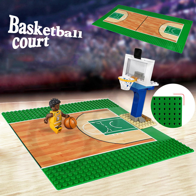 NEW <font><b>32x32</b></font>/16 dots Football Basketball <font><b>Baseplate</b></font> Messie Base Plate Building Block Toys for Children Compatible with LEGOES image