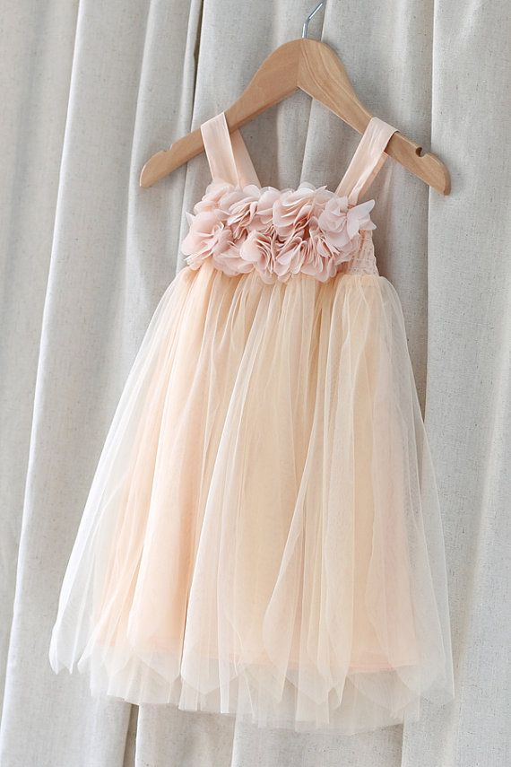 wedding dresses flower girl tulle flower dress with chiffon flowers infant 9311