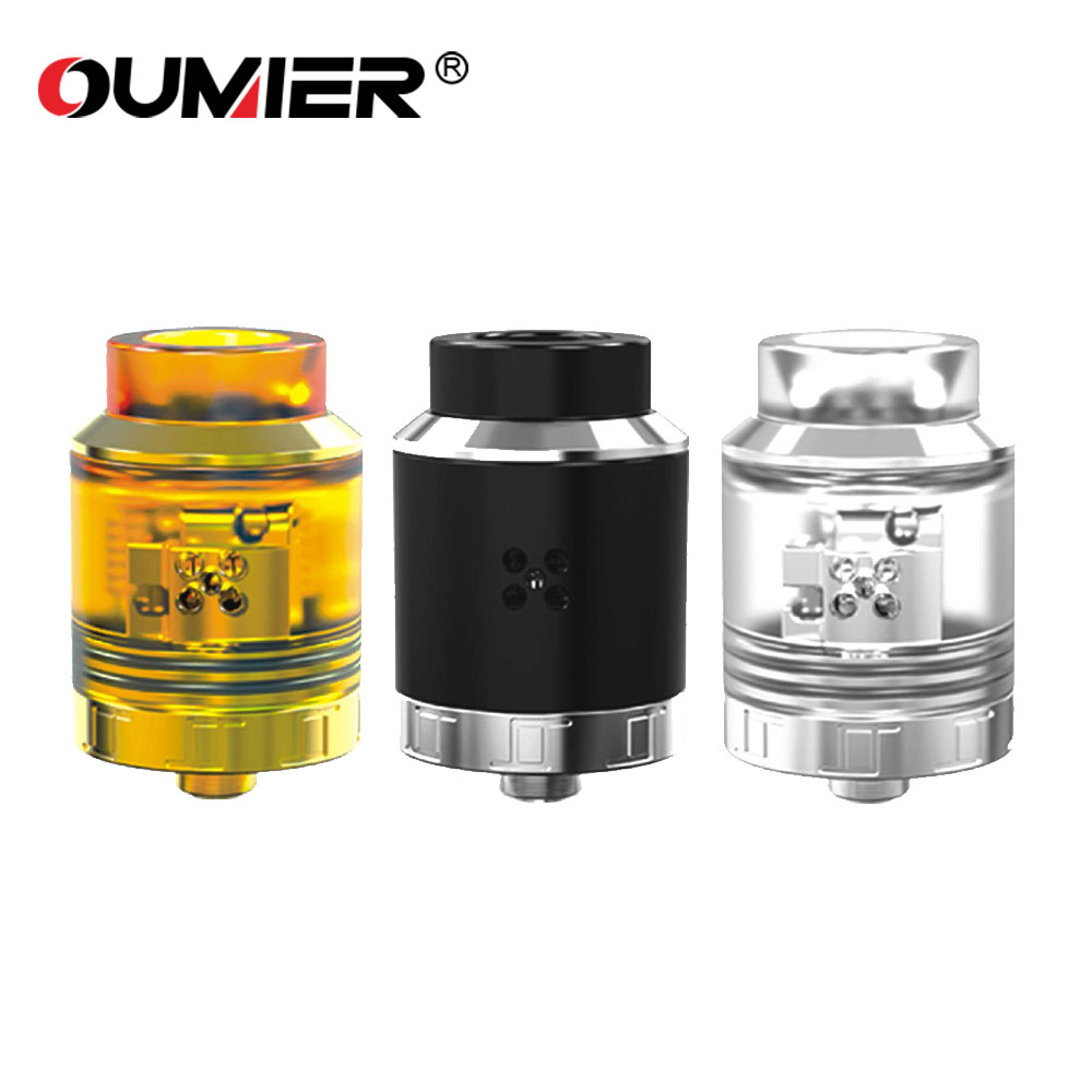 Original OUMIER VLS RDA Tank with 810 Drip Tip & Replaceable BF Pin for Squonk Mod Electronic Cigarette Oumier Vls Rda Atomizer