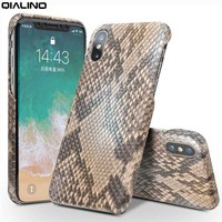 QIALINO Case For IPhone X Genuine Leather Flip Cover For IPhone X Fashion Pure Handmade Custom