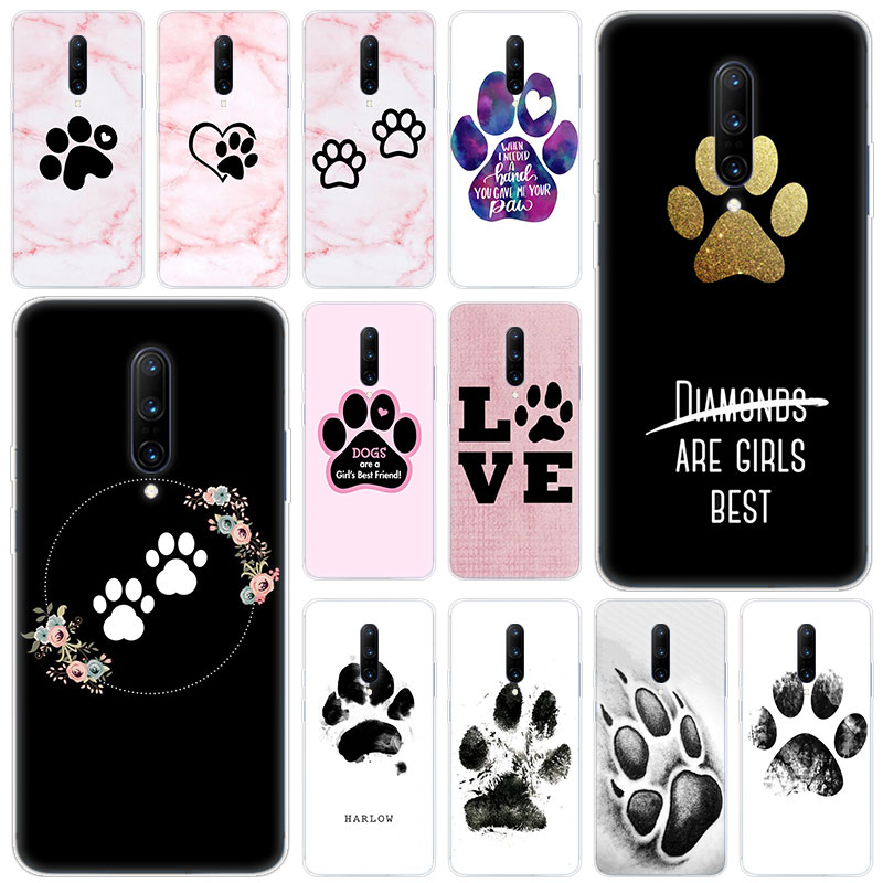 Hot best friends Dog paw Soft Silicone Fashion Transparent Case For font b OnePlus b font
