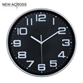 Gohide 1PCS Black Clocks Bedroom Decoration Fashion Boutique Home Furnishing Clock 12-inch Living Room Mute Watch Retro